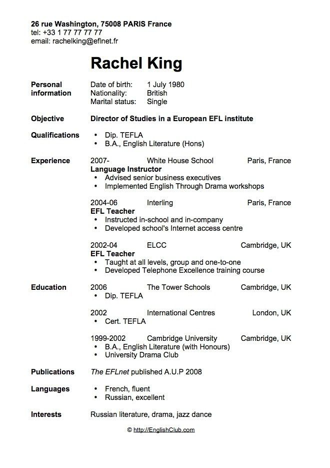 Uk Resume Example - Examples of Resumes