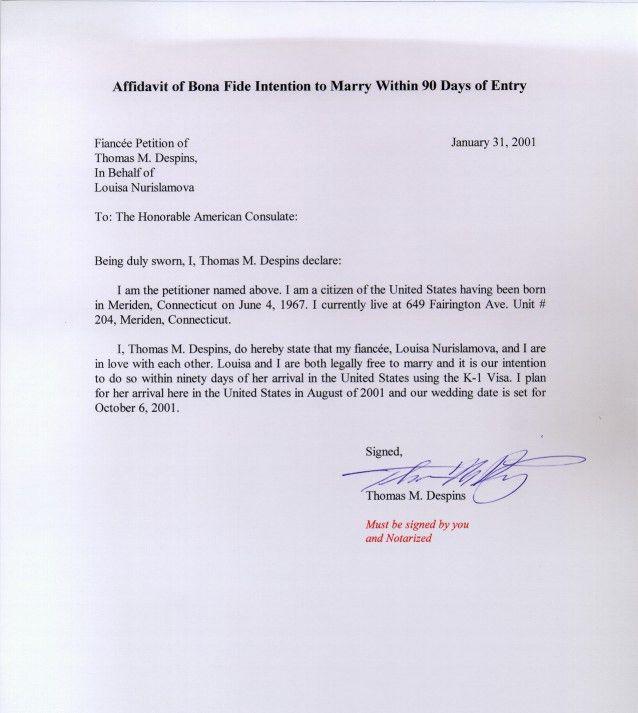 Affidavit Of Support Letter affidavit letter format wtfhyd - affidavits template