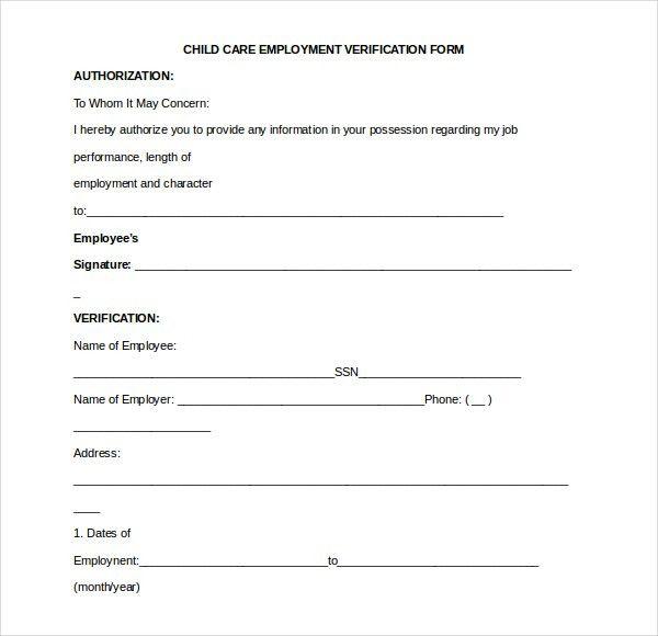 Landlord Employment Verification Form Employment Verification Ez - verification form
