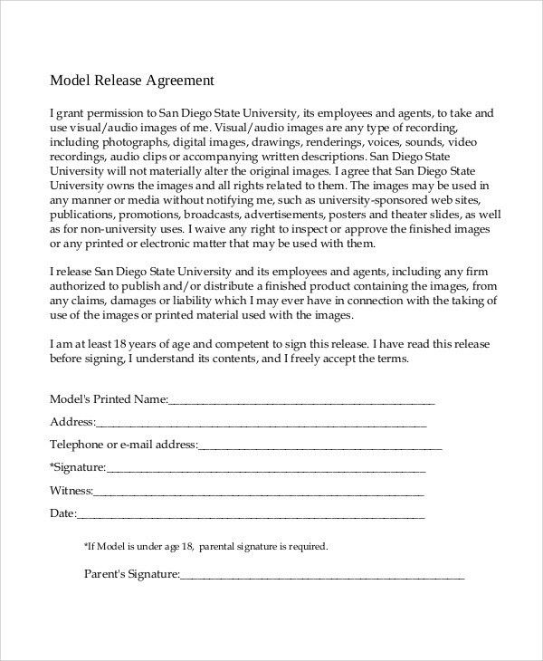 Release Of Liability Agreement Release Of Liability Form Waiver - release agreement