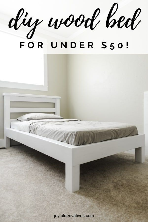 How to Build a Platform Bed with Legs for $50! - Joyful Derivatives
