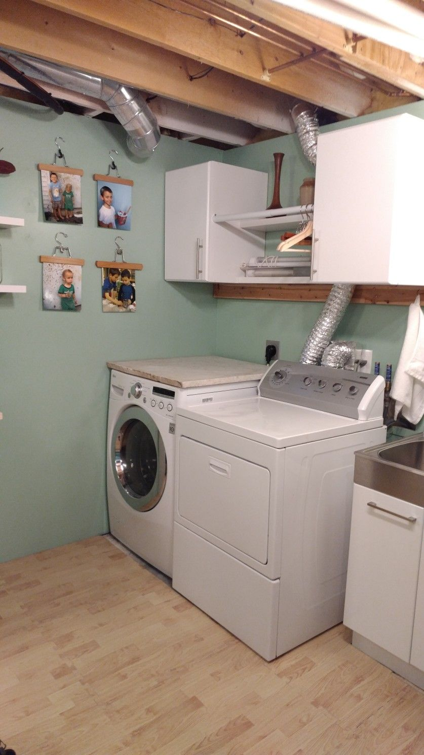 Remodeled Laundry Room With Home Depot Cabinets And Photos In