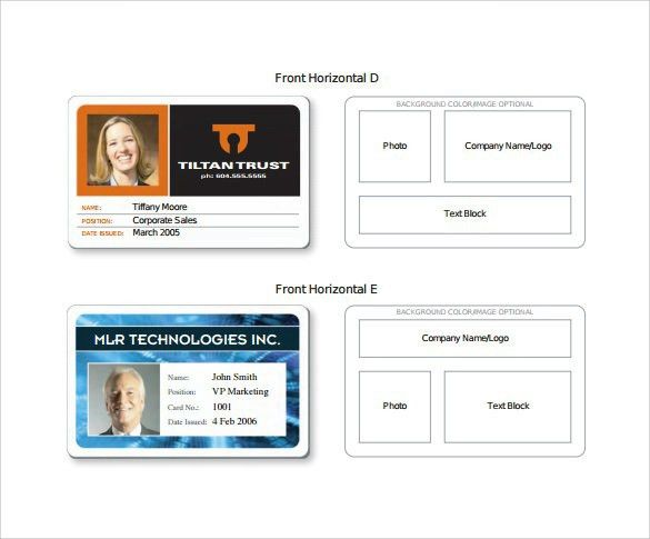 Id Card Template Template For Identification Card Id Badge - id card psd template