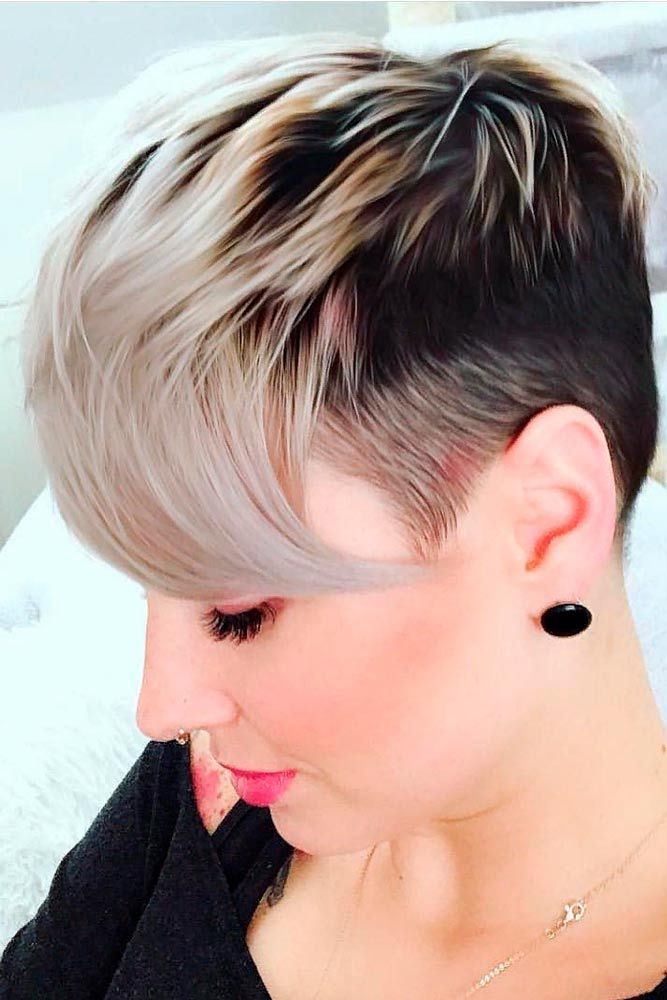 Ombre Pixie Haircut #ombrehair #shorthair ★ A pixie cut will work great for a woman who has an extremely active lifestyle and who would like people to take her seriously. This cut is universally flattering and can be sported in a variety of ways. If you are tempted to try this bossy cut, see our photo gallery to pick one. #glaminati #lifestyle #pixiecut