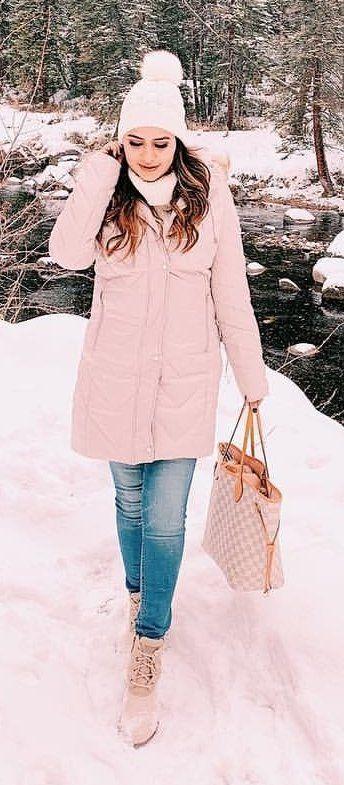 pink snowcoat