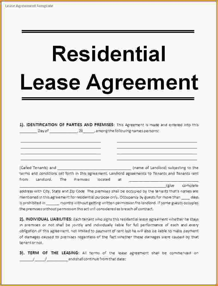 Lease Agreement Form Template Free Rental Agreements To Print - property lease agreement sample