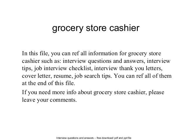 Resume For Grocery Store] Professional Grocery Store Clerk ...