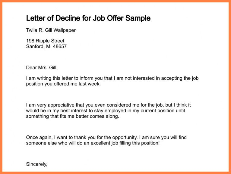 Politely Turning Down A Job Offer Decline A Job Interview How To