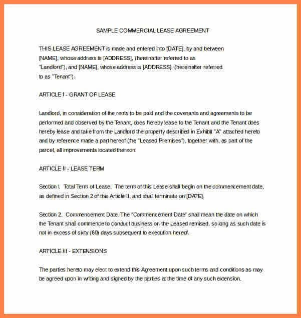 Define Rental Agreement 10 Best Rental Agreements Images On - sample commercial lease agreement