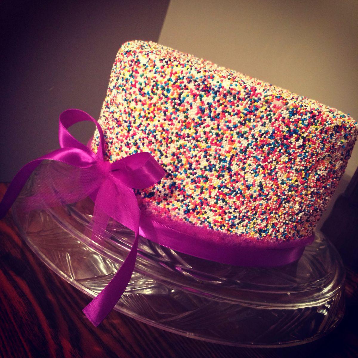 Ruth's bday cake | Fancy cakes, Cake, Sprinkle cake