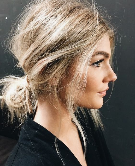 How to…tie back hair chic…