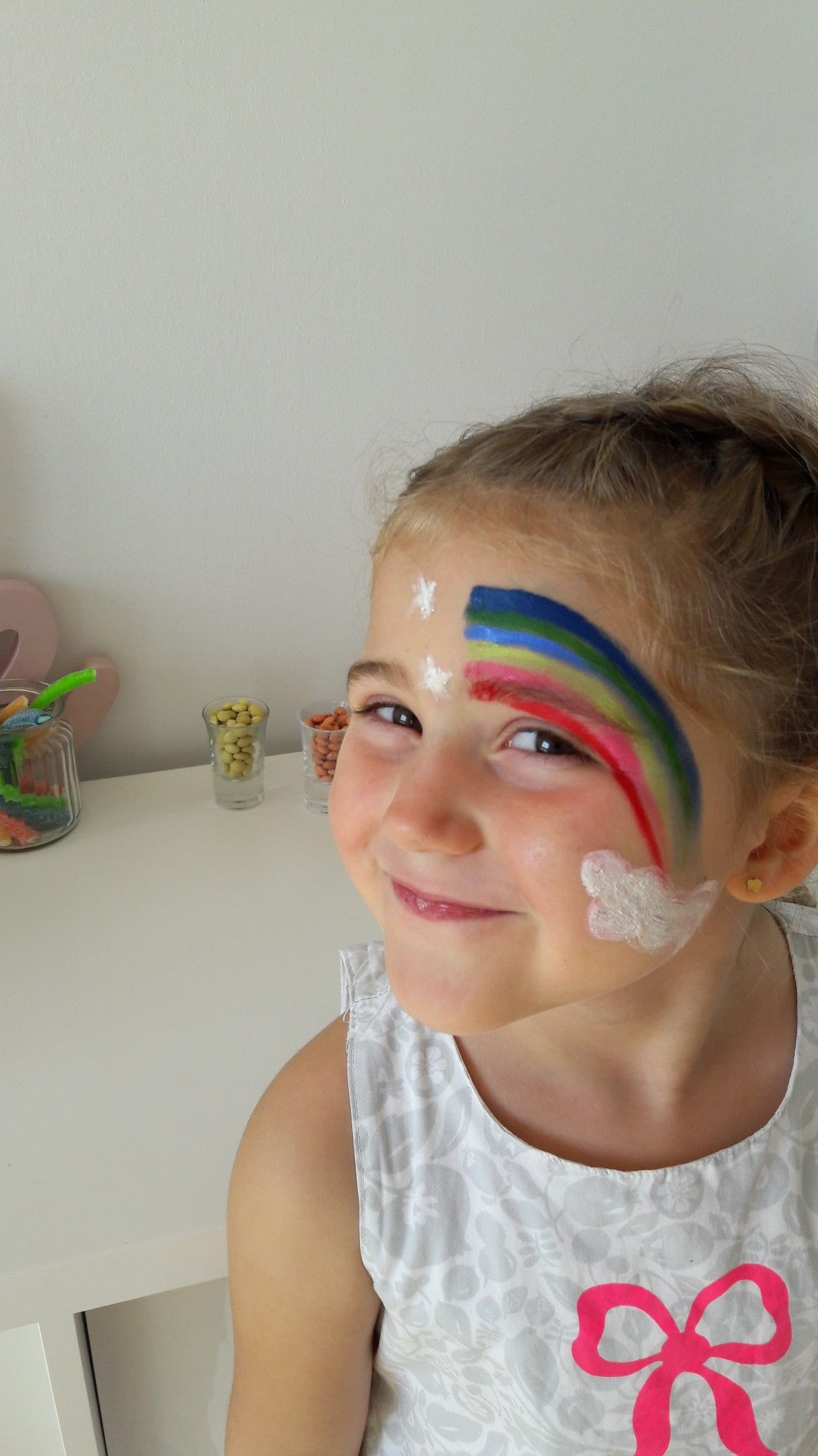 Maquillage arc en ciel diy maquillage enfant