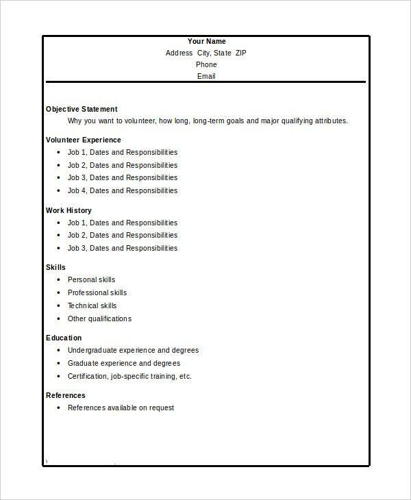 Vista Volunteer Sample Resume vista volunteer sample resume ideas