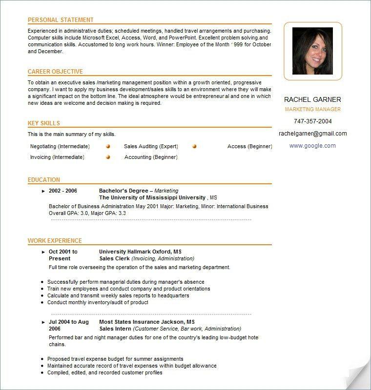 canadian format resume cvresumeunicloudpl - Canadian Format Resume