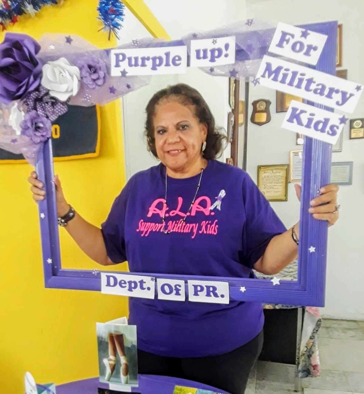 Purple up for military kids. Hilda Soto, Children & Youth