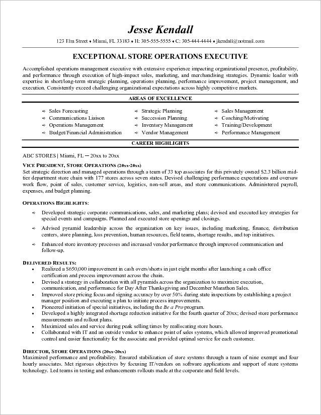 corporate communications executive resume retail business letter