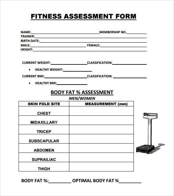 Assessment Forms Templates Training Assessment Form Free Premium - sample health assessment