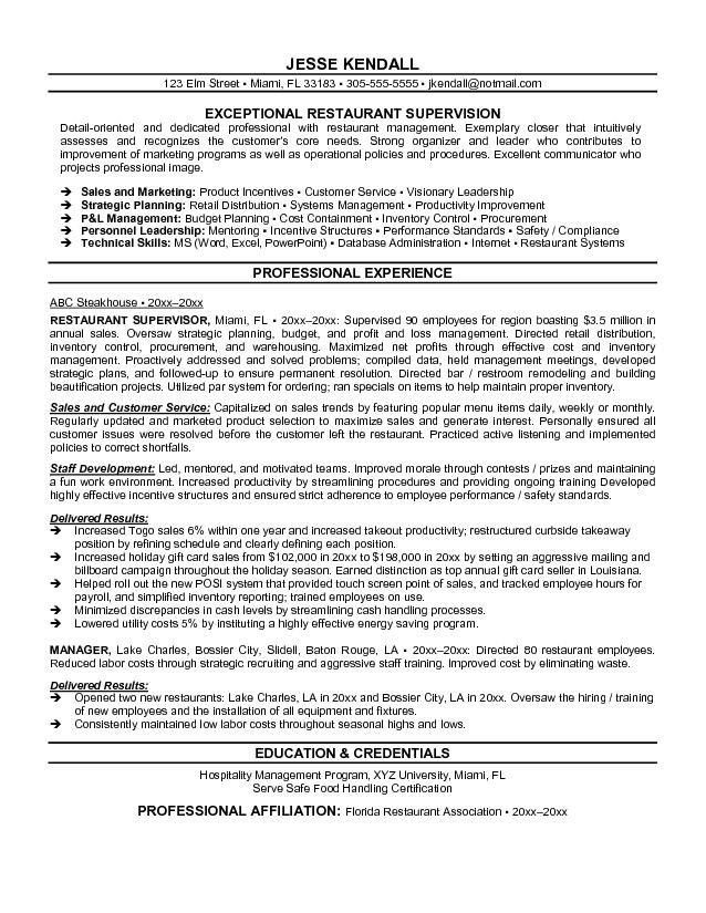 sample resume for food service manager free food service manager restaurant management resume. Resume Example. Resume CV Cover Letter