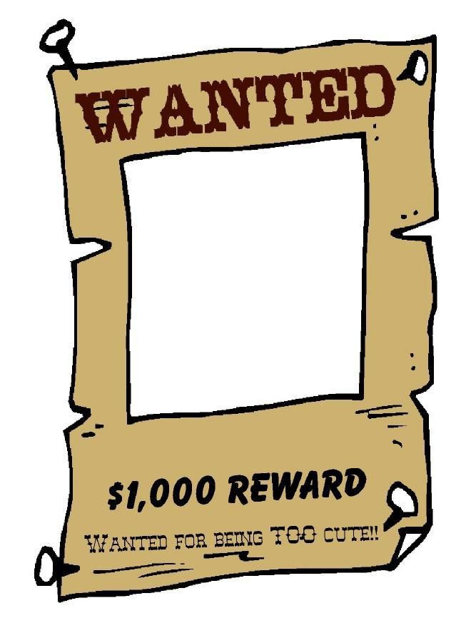 free wanted poster template for kids – Most Wanted Sign Template