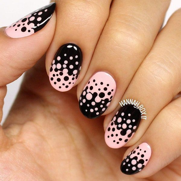 polka dots nail