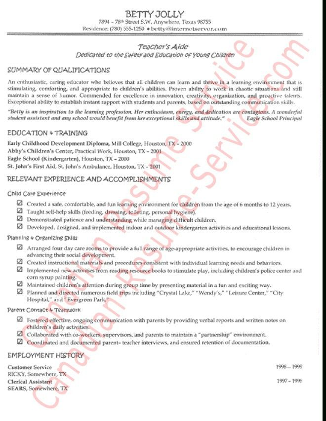 Examples Of Teacher Assistant Resumes Unforgettable Assistant