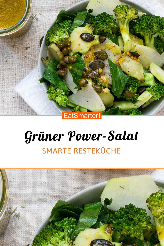 Grüner Power-Salat | eatsmarter.de #abendessen #gesund #resteküche  #salat