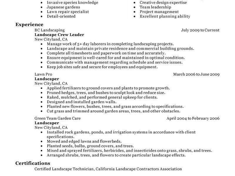 landscaping resume examples produce clerk resume samples