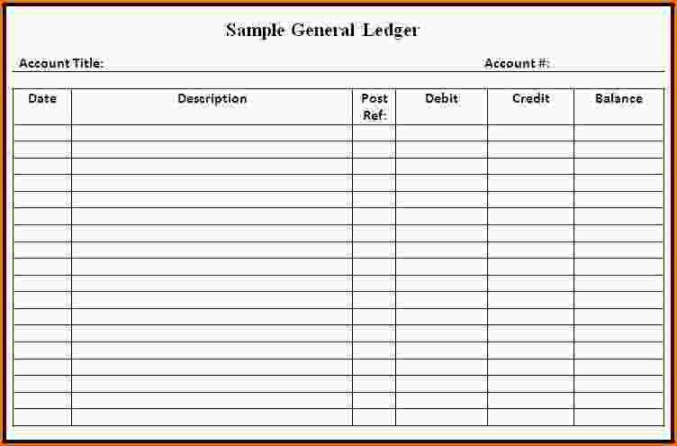 excel general ledger template