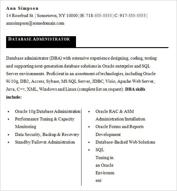 Sybase Dba Resume. Cognos Enterprise Planning Resume Cognos .
