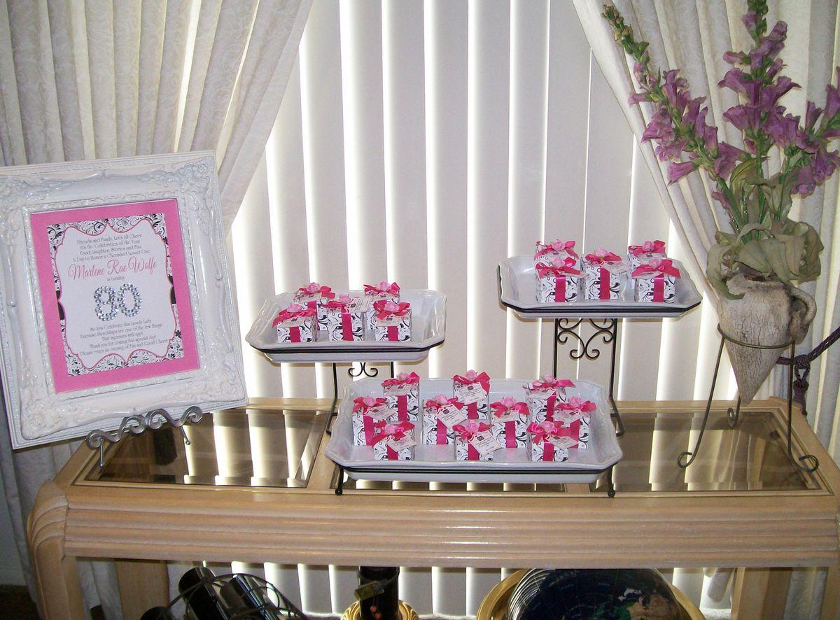 80th Birthday Party cards & memory box 80th Birthday