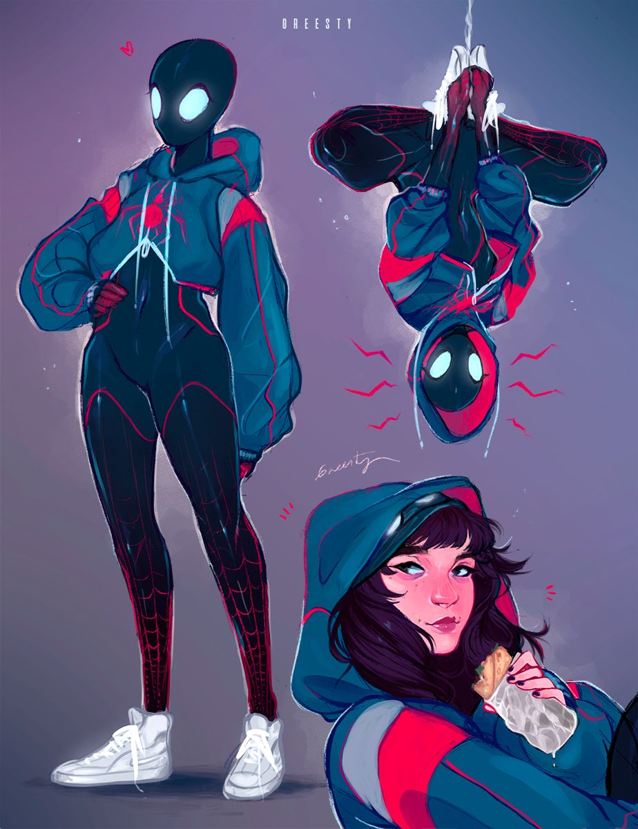 """greesty 🦇 on Twitter: """"What's up, danger? #SpiderVerse #spidersona !!… """""""