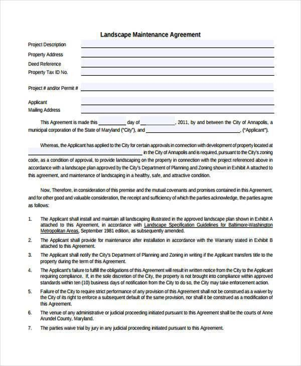 landscaping contract templates