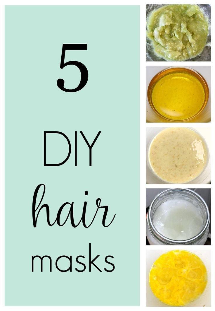 5 easy DIY hair mask recipes you can make with 3 ingredients or less to make hair shiny and soft.