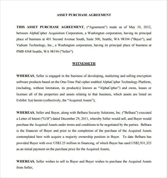 Selling Agreement Template 12 Buy Sell Agreement Templates Free - asset purchase agreement