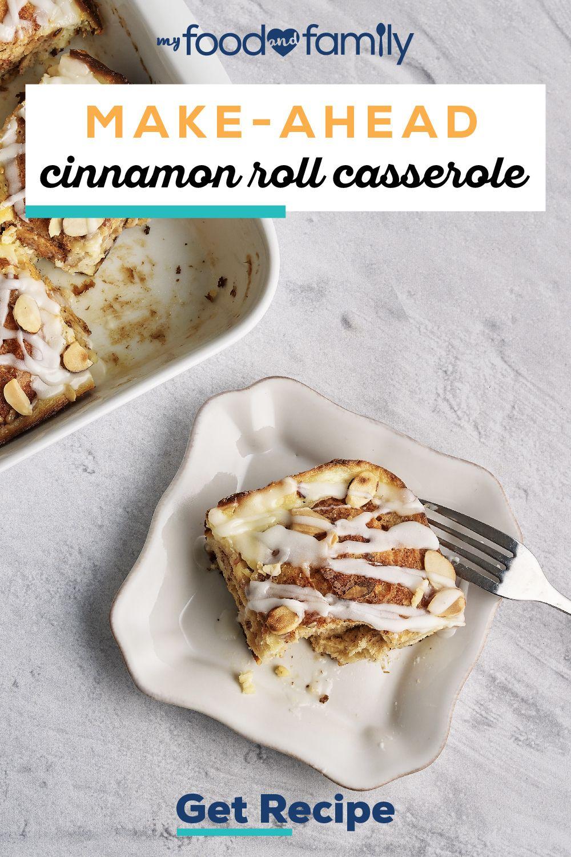 Make-Ahead Cinnamon Roll Casserole