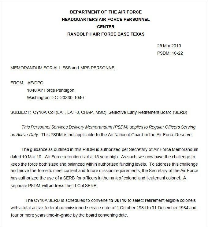 Memo Form Template Free Memorandum Template Sample Memo Letter - army memo