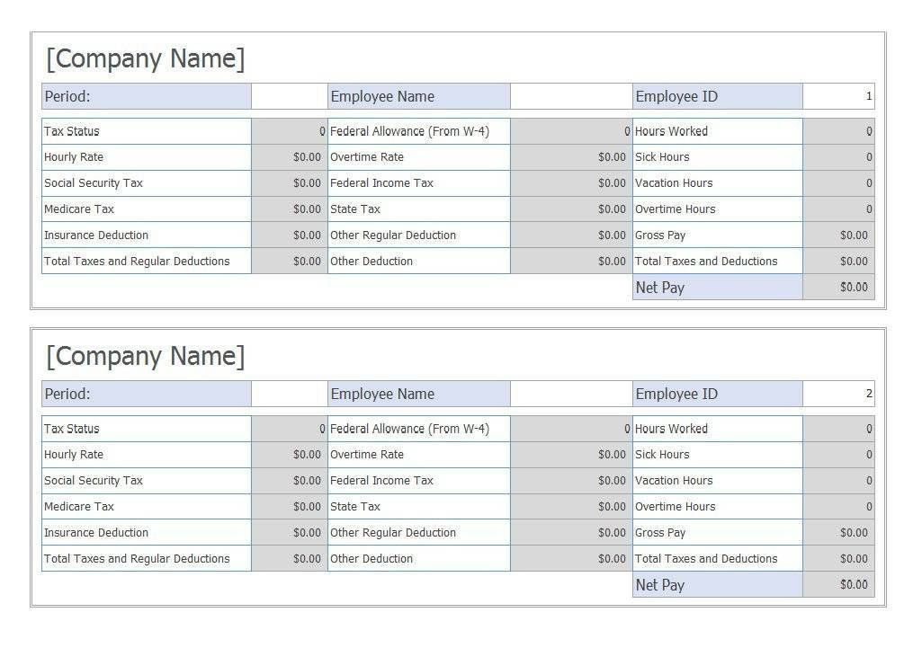Pay Stub Templates Pay Stub Template 17 Free Samples Examples - pay stub format