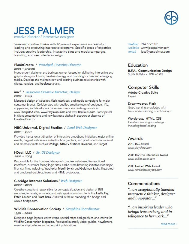 Art Director Resume Examples - Examples of Resumes