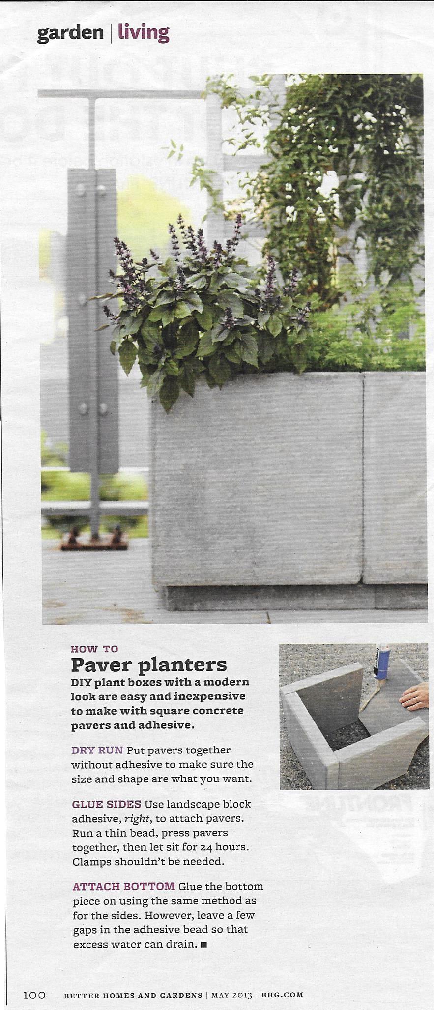 Paving Stone Planters Diy Concrete Planters Concrete Planters Diy Planters Outdoor