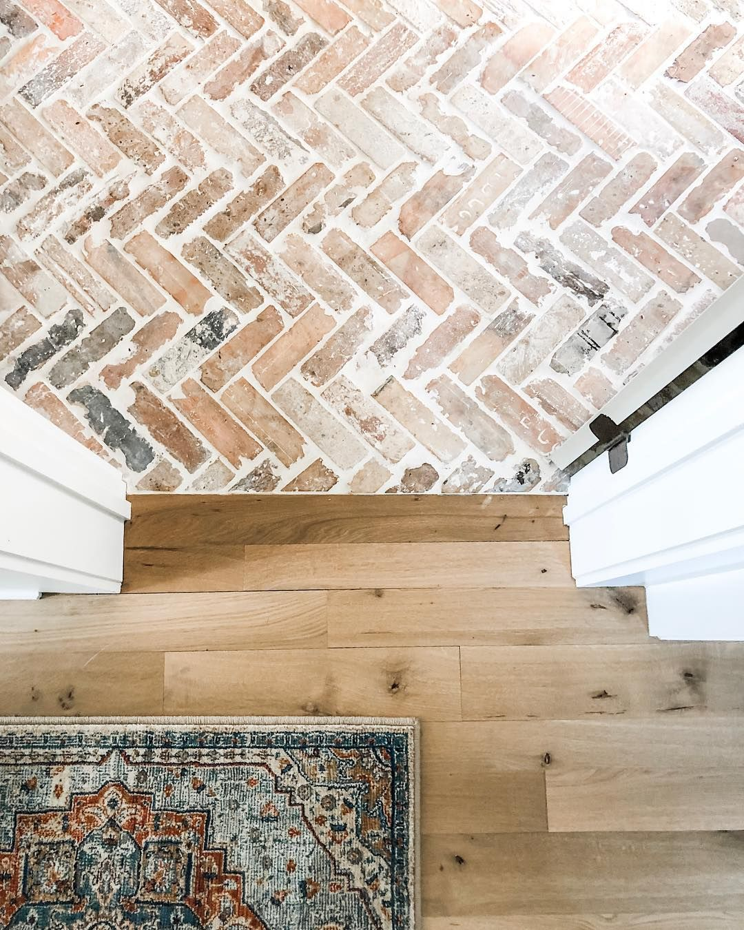 Let's talk FLOORS! • One of my most asked questions is about our brick flooring! These bricks are the faces of old Chicago bricks from…