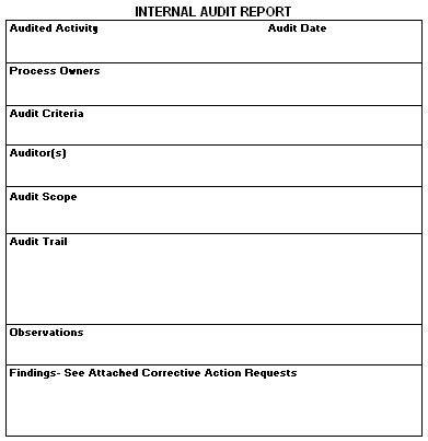 Sample Internal Audit Report Template 14 Internal Audit Report - audit report sample