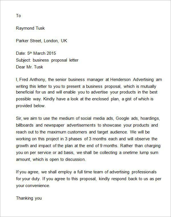 Uk Business Letter Format How To Format A Uk Business Letter - formal proposal letter
