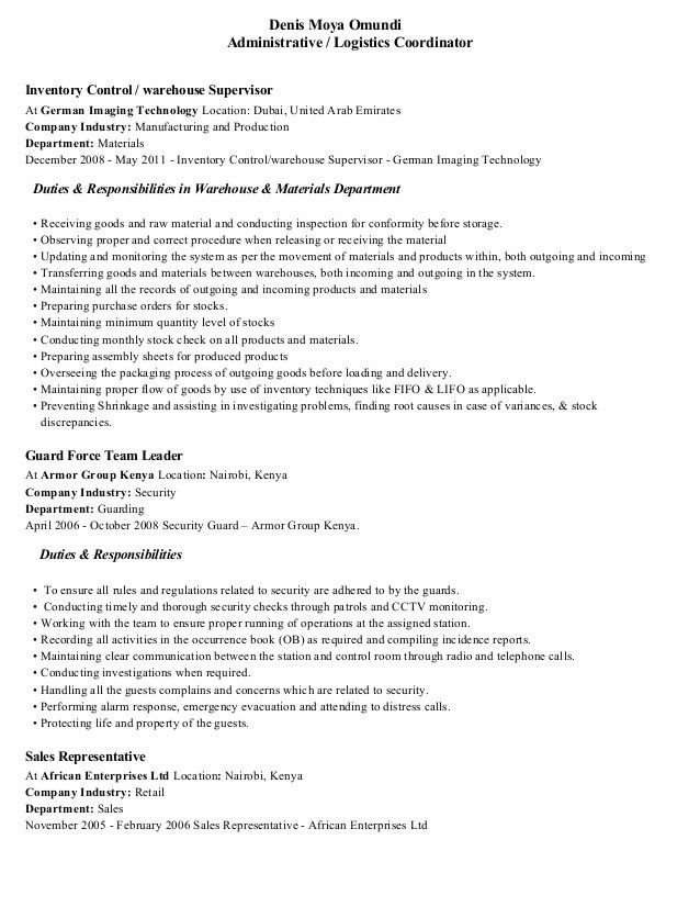 Logistics Resume Objective Examples - Examples of Resumes