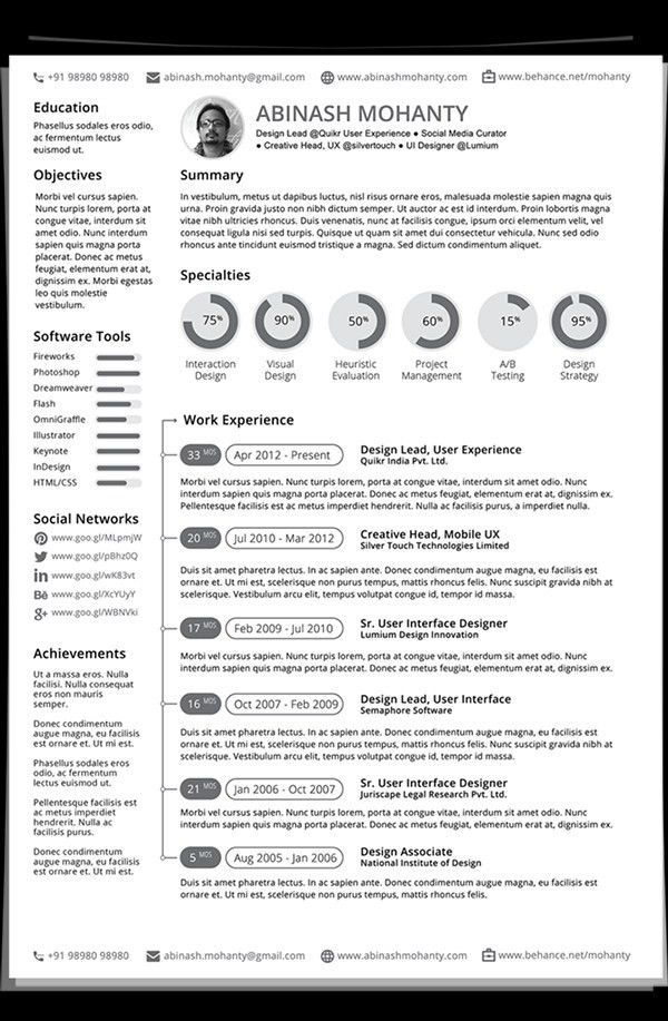Modern Resume Example Modern Resume Templates 64 Examples Free - top 10 resume examples