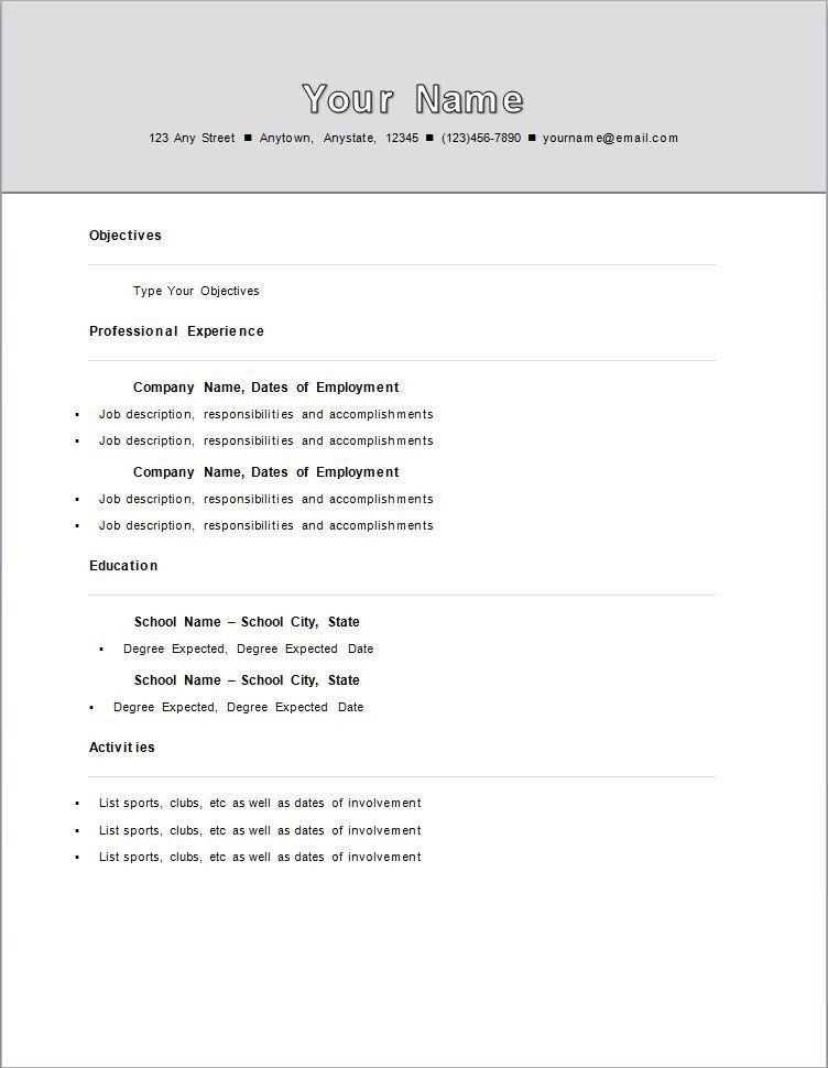 standard resume examples format download pdf best template word - standard resume examples