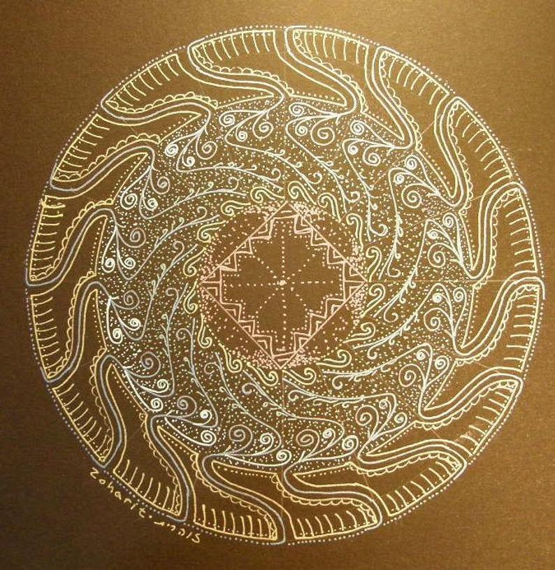 Glowing Mandala original 26 | Etsy