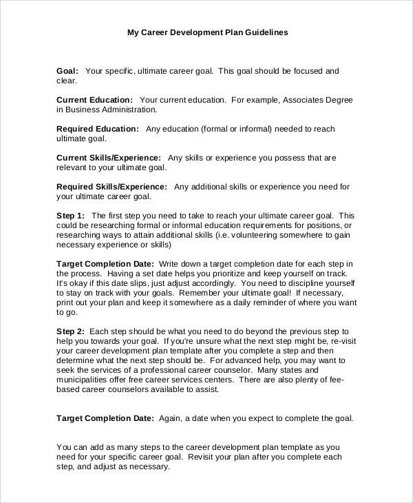 Pdp Plan Example Examples Of Staff Development Plans Example Of - career progression plan template