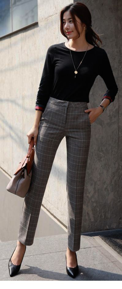 Very nice grey plaid pants