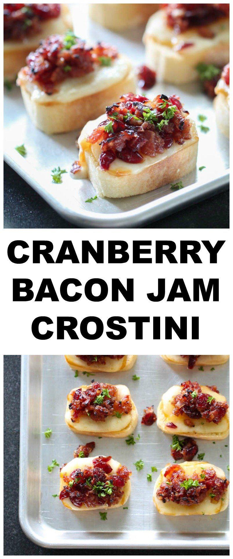 Cranberry Bacon Jam Crostini Recipe   Six Sisters' Stuff
