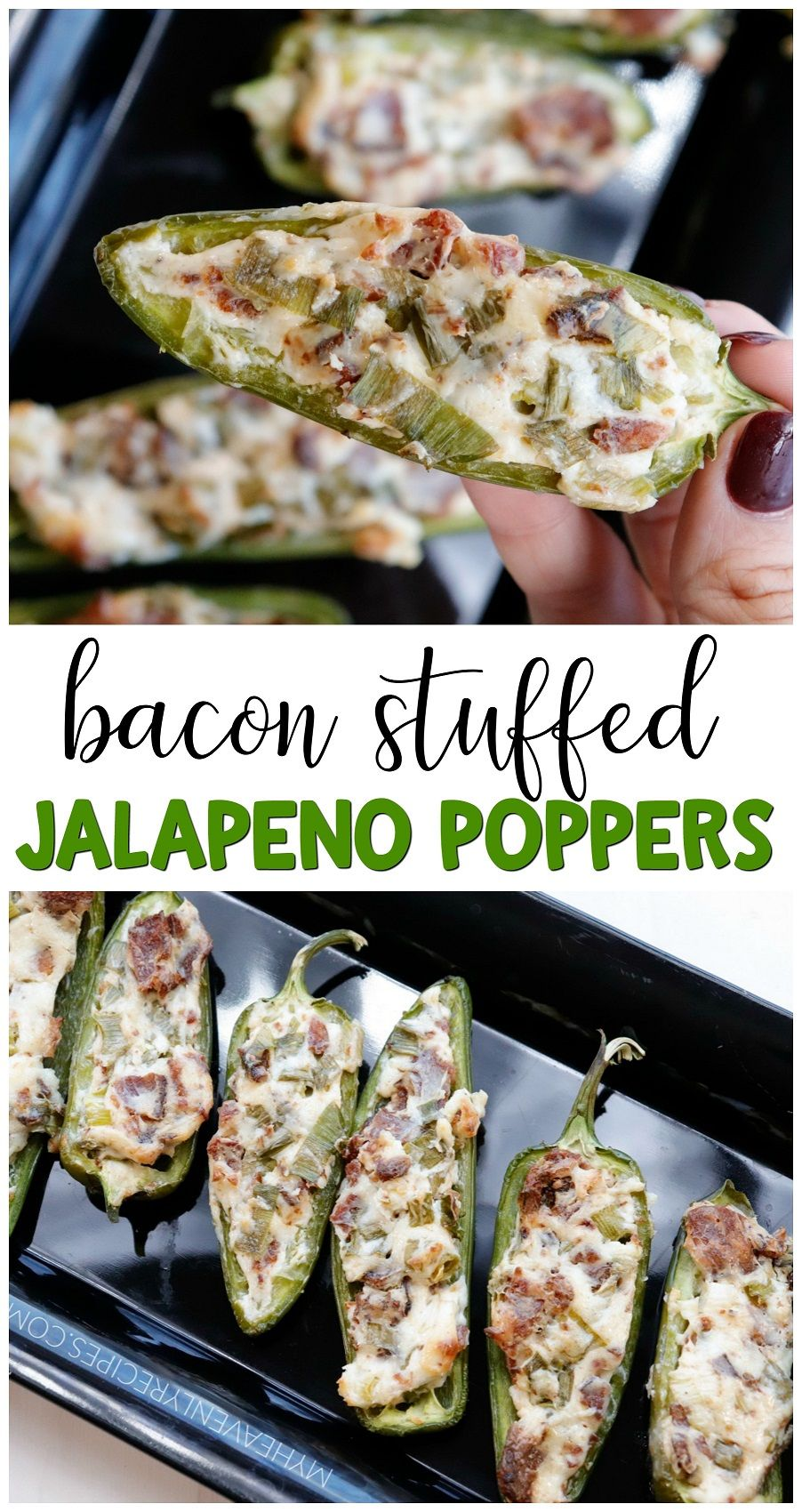 Bacon Stuffed Jalapeno Poppers Recipe